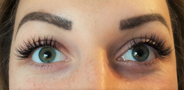 After Lash and brow work